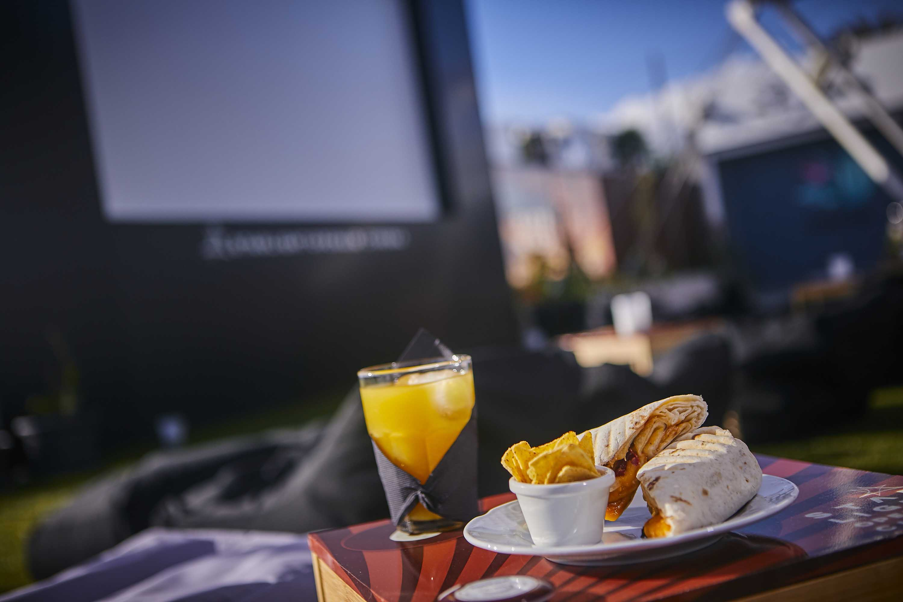Movies and food at Rooftop Lanzarote puerto del carmen