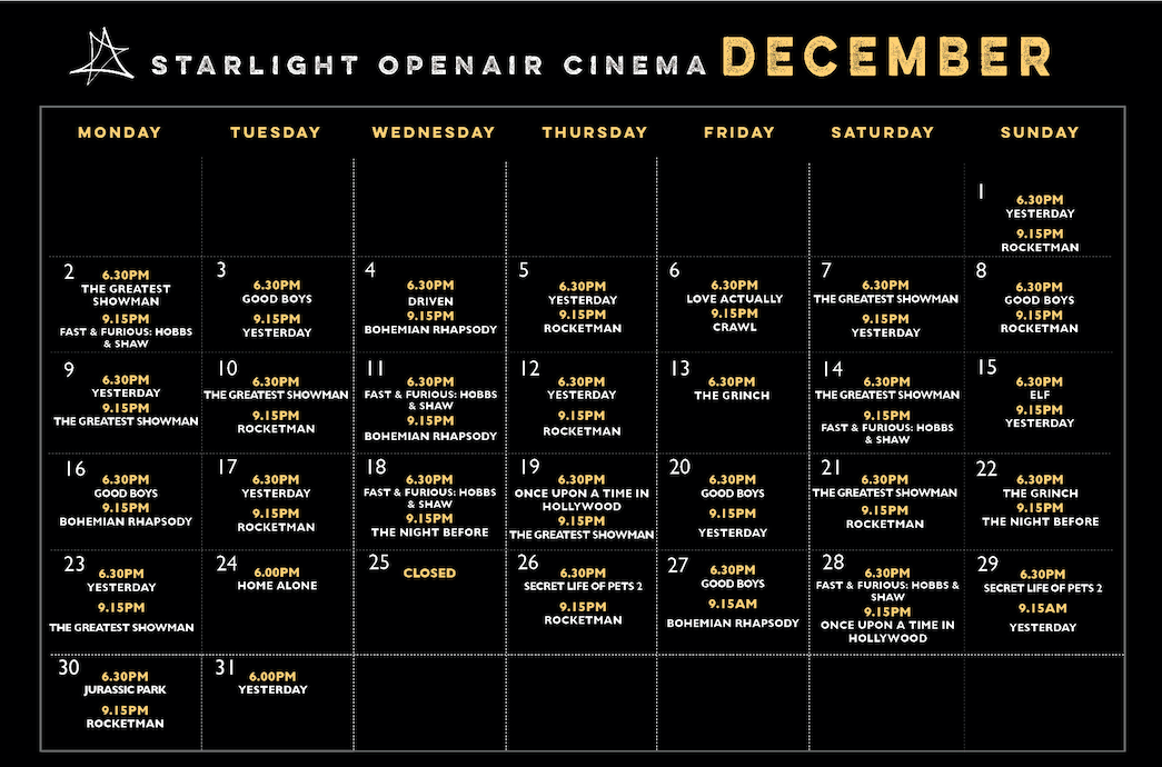 English Cinema Lanzarote Christmas 2019