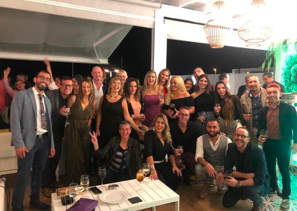 New year team rooftop Lanzarote 2020