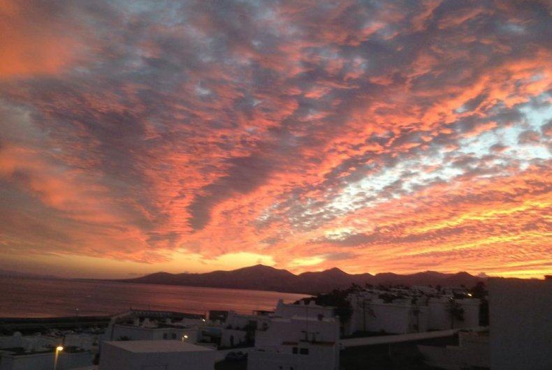 Sunset, New month Rooftop Lanzarote October
